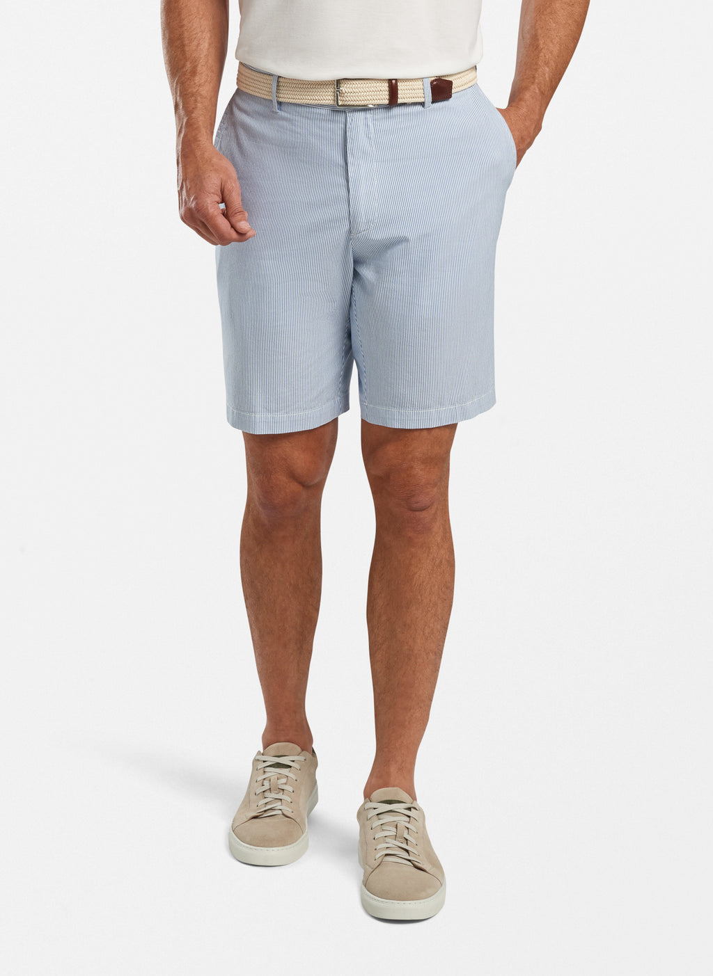 Peter Millar Pinstripe Cotton Blend Short MS20B11