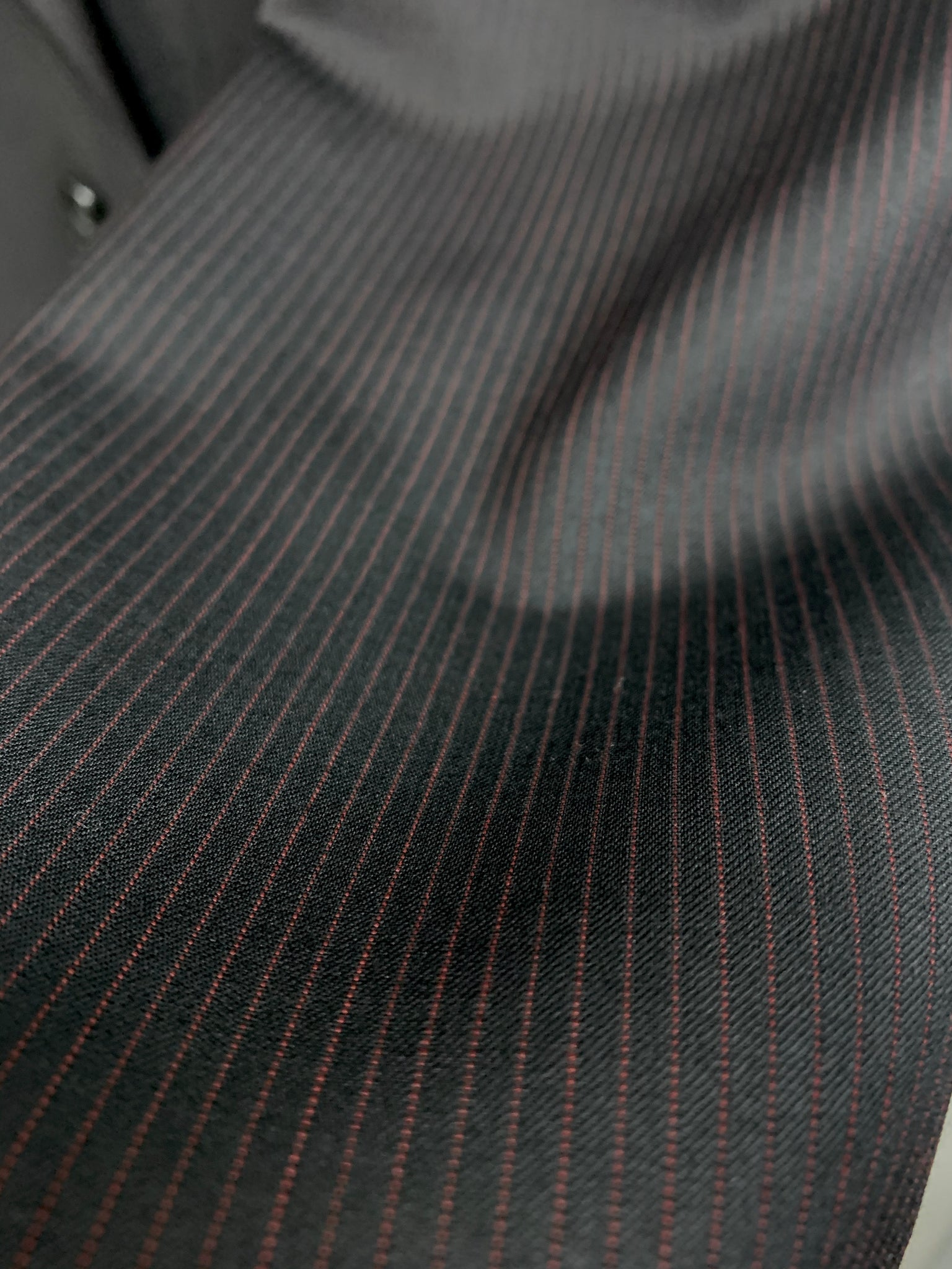 Calvin Klein Suit - (Black w/ Red Pinstripe)