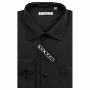Luxton Performance Slim Fit Dress Shirt - Black