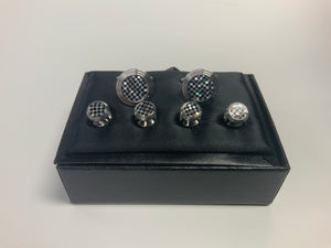 Cardi Stud Set with Cufflinks