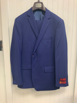 Mantoni Super 140 Wool Suit- French Blue 40901-6