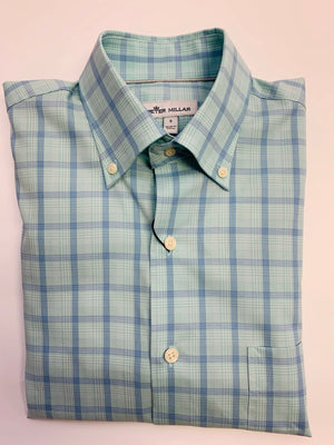 Peter Millar Summer Herringbone Buttondown Shirt Ms19W07Nbl