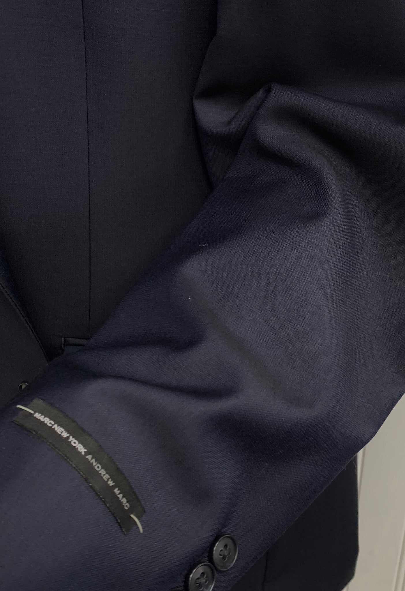 Andrew Marc Wool Suit - CRT02MAY0013 (Solid Navy)