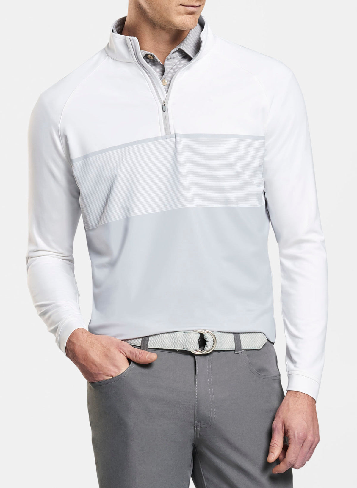 Peter Millar Perth Engineered Stripe 1/4 Zip Mf19Ek40