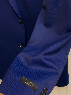 S. Cohen Performance Wool Suit- 89-1663 (Navy Microcheck)