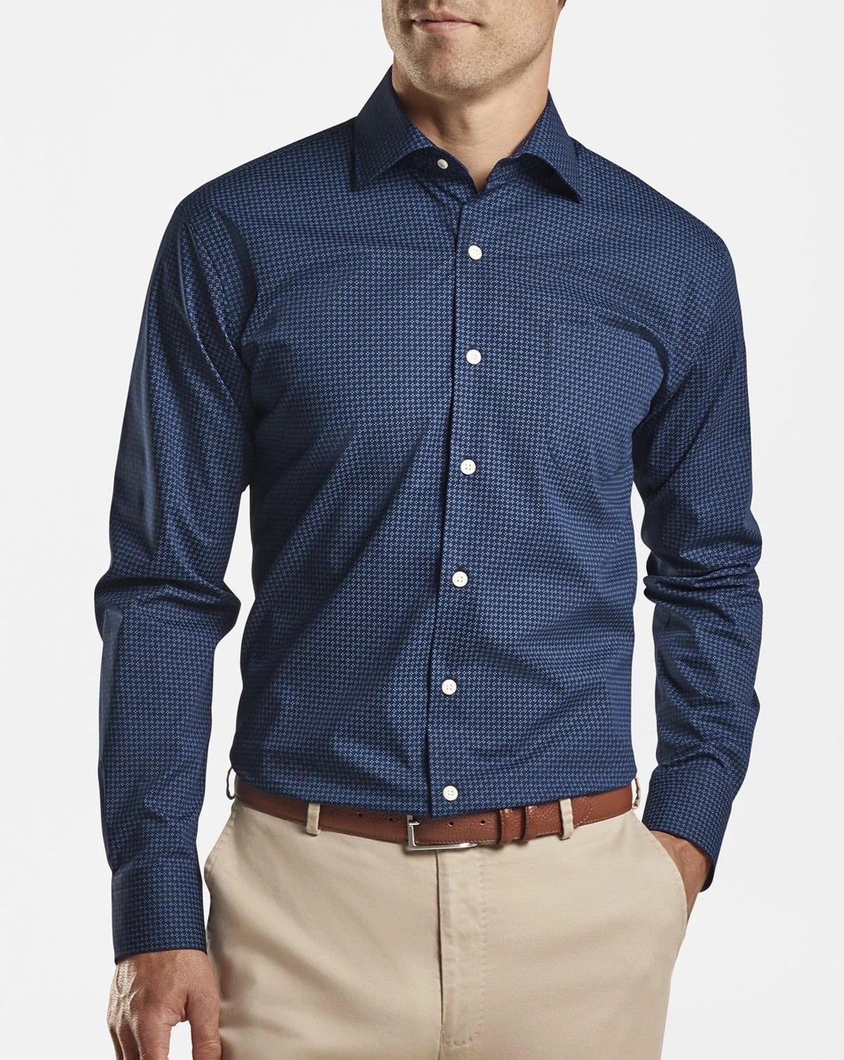Peter Millar Midnight Cotton Blend Sport Shirt MF20W14CSL