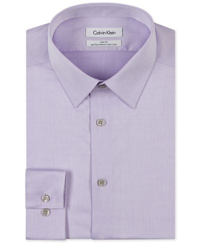 Calvin Klein Performance Slim Fit Dress Shirt - Lavendar