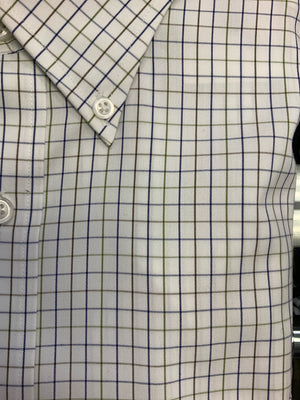 Giovanni's Windowpane Button Down Dress Shirt - Multi (Cream Ground) -98