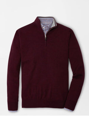 Peter Millar Merino-Silk 1/4 Zip Sweater MF20S25