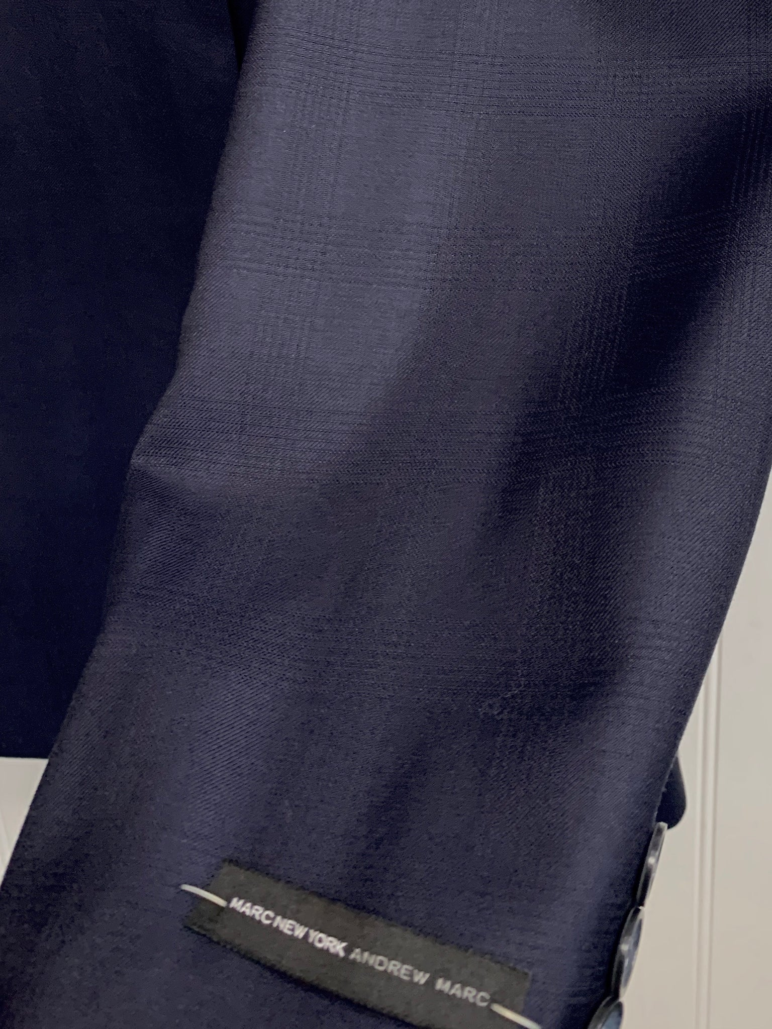 Andrew Marc Wool Suit - CRTO2MAY0176 (Blue Tonal Windowpane)
