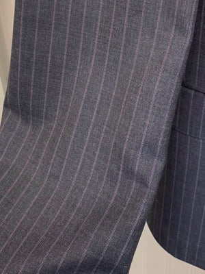 Ermenegildo Zegna Wool Suit Z20452- (Gray w/ Purple Pinstripe)