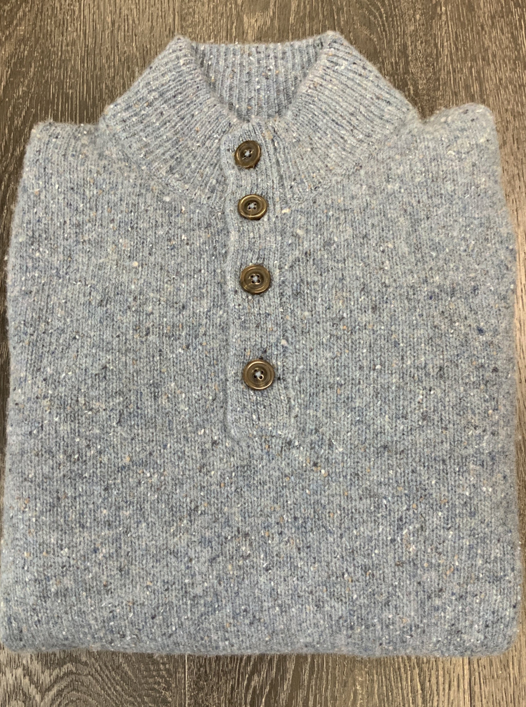Scott Barber Yak Button Mock Sweater