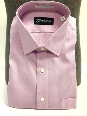 Giovanni's Glen Plaid (The Belmont) Modified Spread Dress Shirt - Lavendar-51