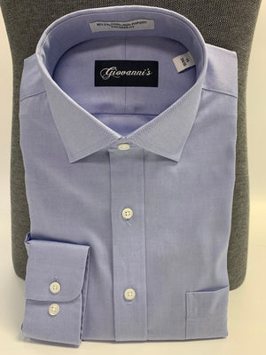 Giovanni's Modified Spread Dress Shirt - Blue-12