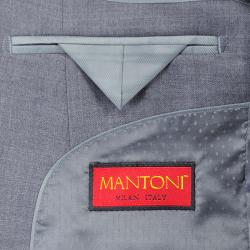 Mantoni Super 140 Wool Suit- Midnight Navy 40901-2A