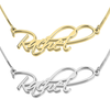Solid 14k Script Name Necklace
