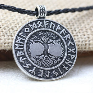 Tree of Life Yggdrasil and Runes Necklace