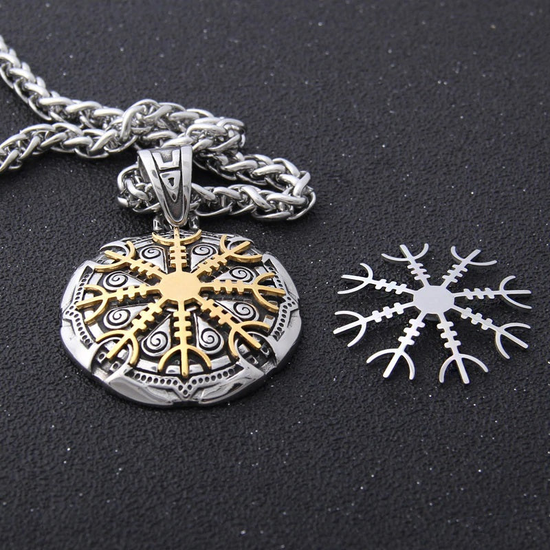 Helm of Awe Shield Necklace