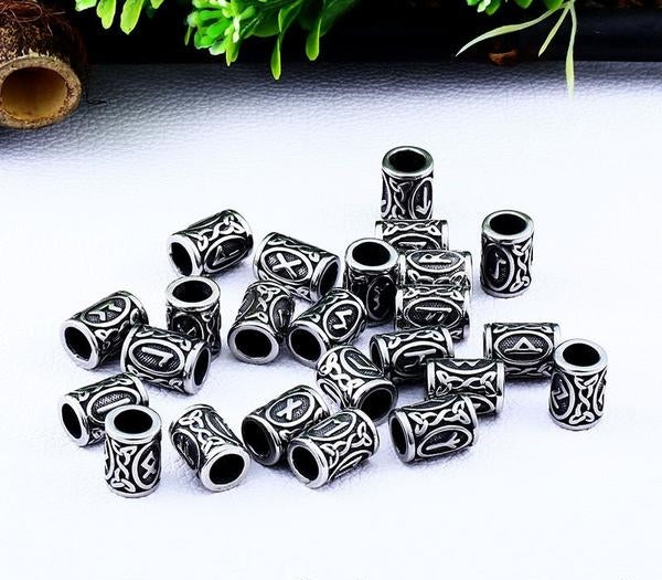 24 Pieces Viking Runes Bead Set