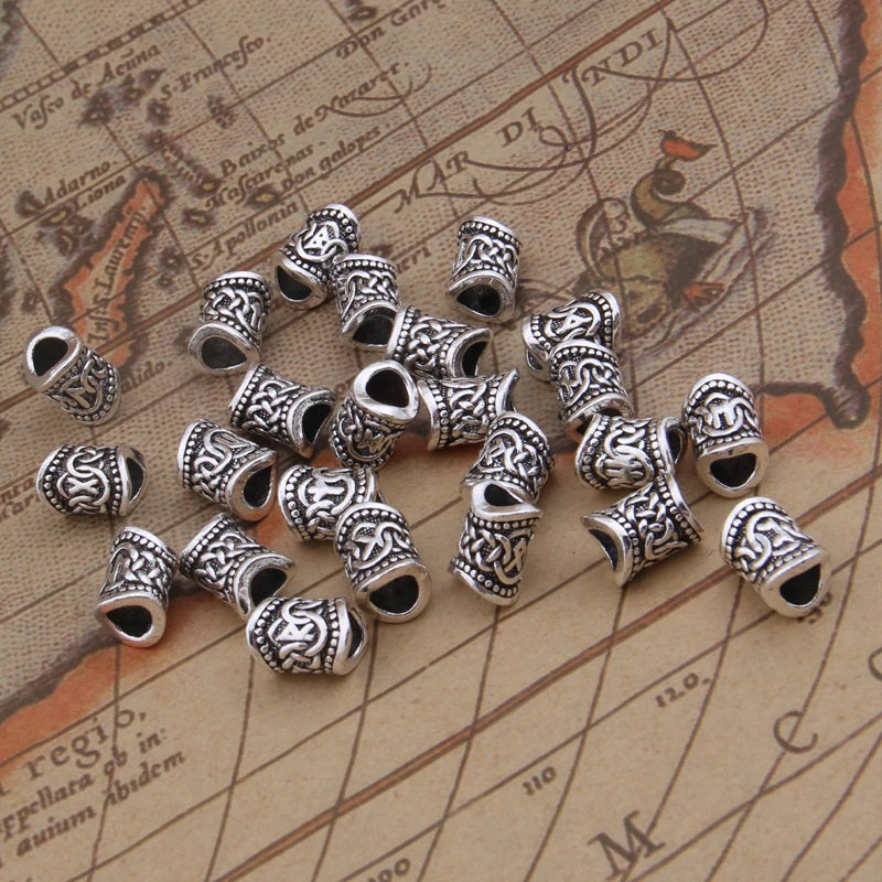 24 Pieces Viking Runes Beads Set