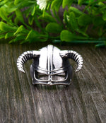 Viking Horned Helmet Ring