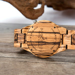 Viking Helm of Awe Wooden Watch
