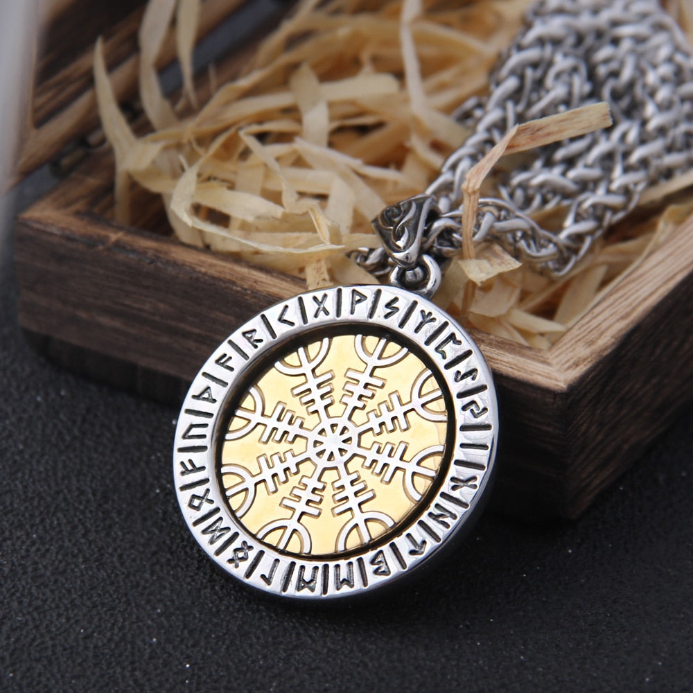 Helm of Awe Rotating Necklace