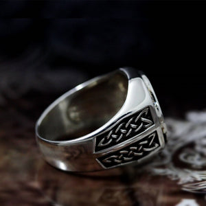 Valknut & Viking Runes Ring