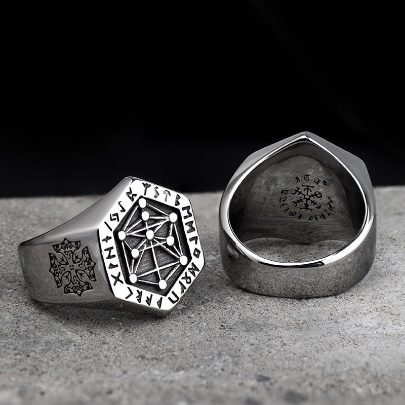 ANCIENT CULTURE VIKING SYMBOLS RING (Personalize it)