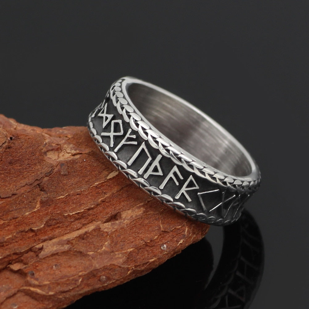Viking Futhark Runes Ring