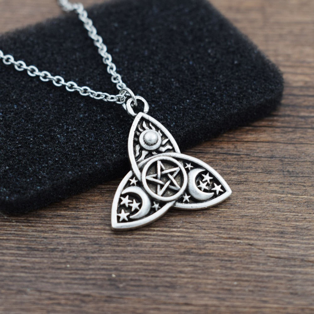 Triquetra Pentacle Necklace