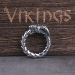 Viking Ouroboros Dragon Ring