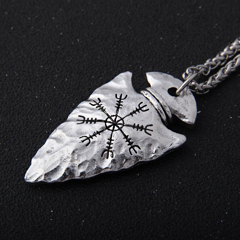 Helm of Awe Spearhead Necklace