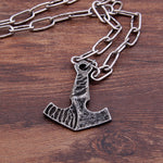 Steel Mjolnir Necklace