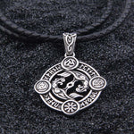 Viking Symbols with Runes Necklace