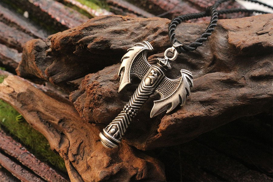 Viking Double Axe Necklace