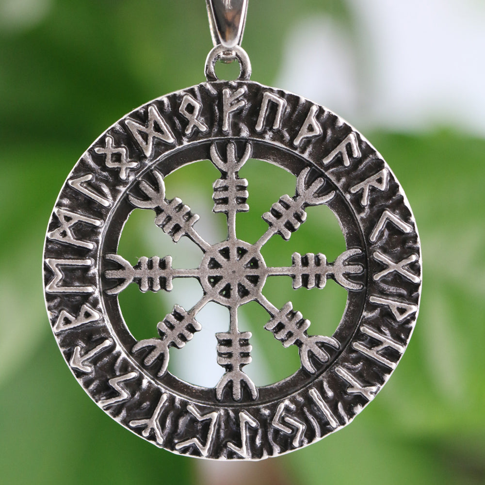 Helm of Awe With Runes Necklace