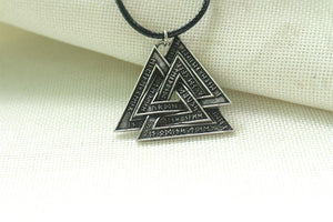 Valknut With Runes Necklace