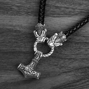 Viking Thor's Hammer with Leather Chain