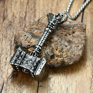 Thor's Steel Hammer Necklace