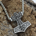 Skull Mjolnir Necklace