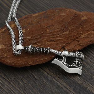 Norse Warrior Battle Axe Necklace