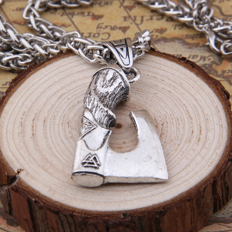 Massive Battle Axe Necklace