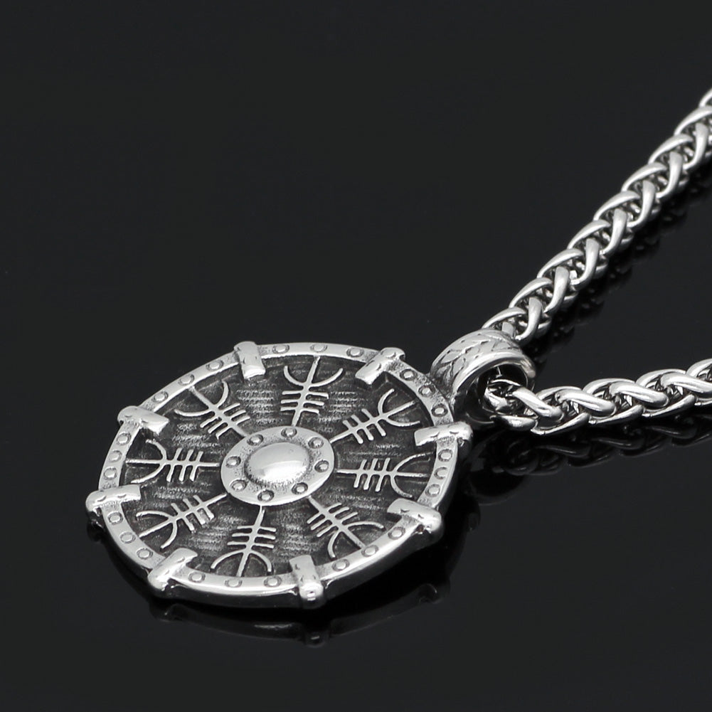 Aegishjalmur Shield Necklace