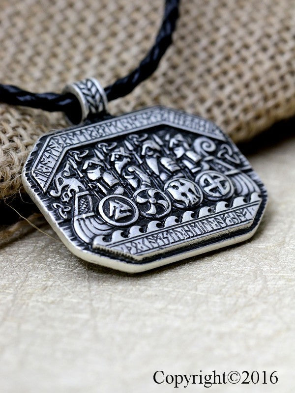 Legendary Viking Ship Talisman Necklace