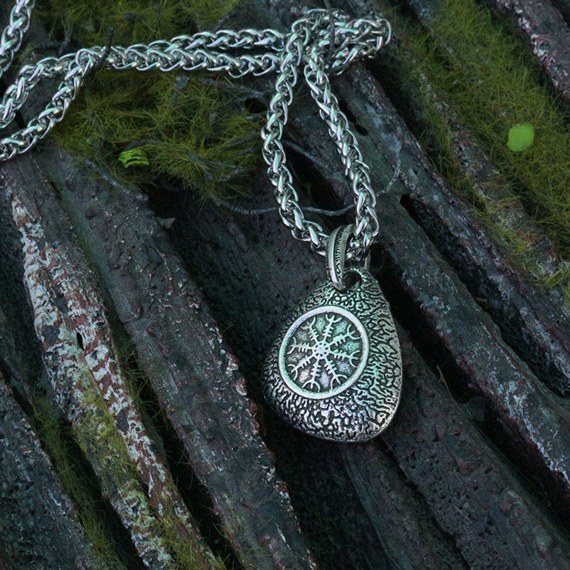 Helm of Awe Runestone Necklace