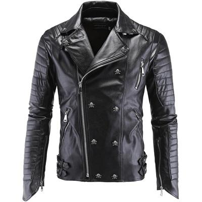 Men's Skull Buttons Winter Jacket