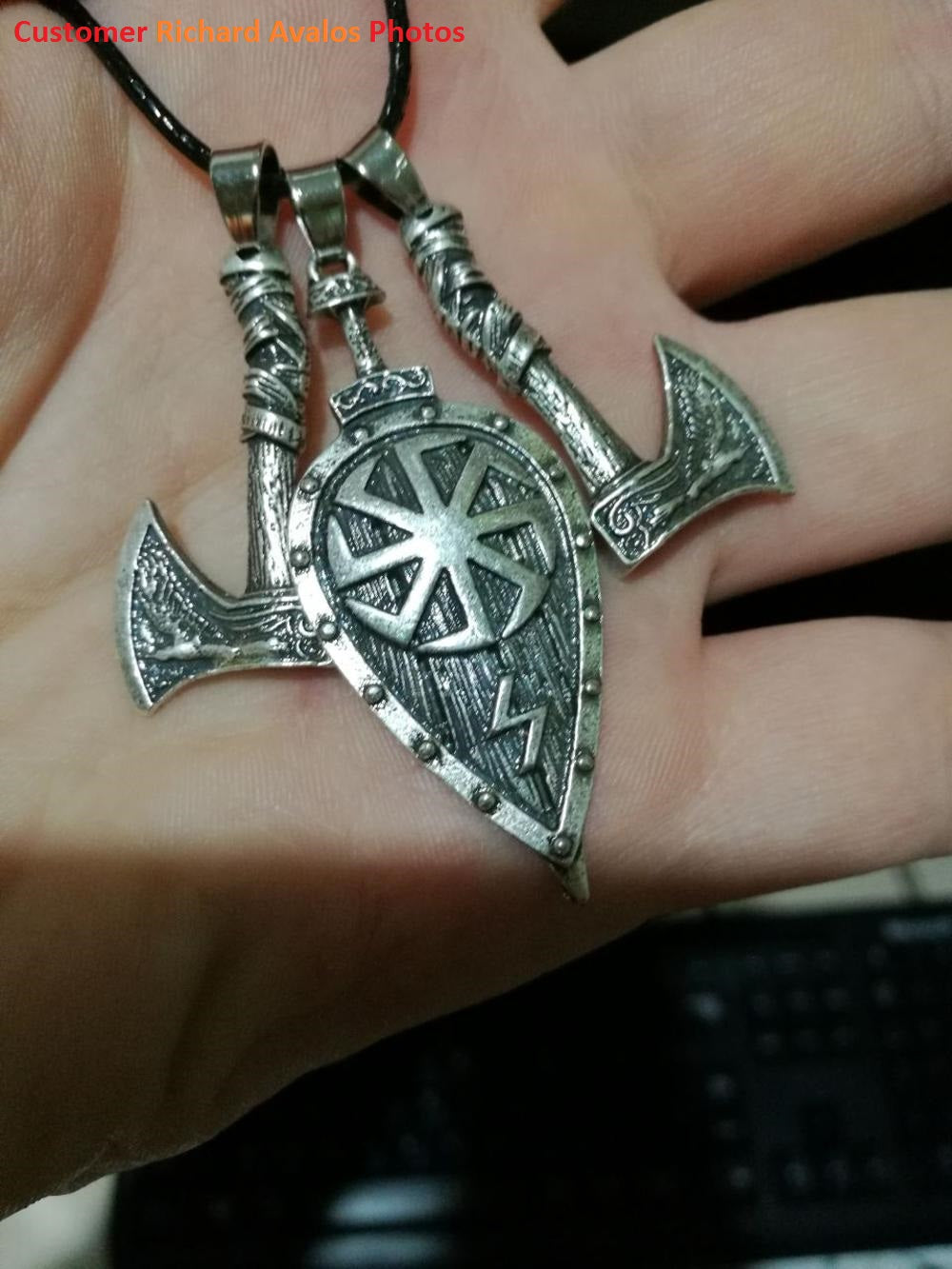 Shield & Axes Necklace