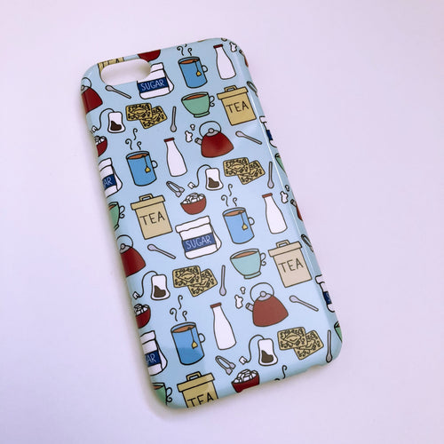 #0050 Cup of Tea iPhone 6/6S gloss finish case