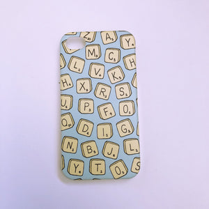 #0056 Letter tiles iPhone 4/4S case